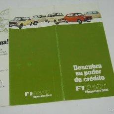 Coches y Motocicletas: FINANCIERA SEAT FISEAT CON AUTO-TEST. Lote 58014846