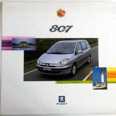 Coches y Motocicletas: DOSSIER PRENSA PEUGEOT 807 + 2 CD + FOTOS.. Lote 58063977