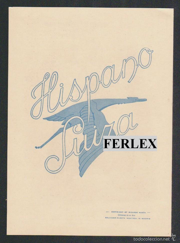 Coches y Motocicletas: Folleto publicitario de la casa Hispano Suiza, repartido en las Exposiciones de Sevilla y Barcelona. - Foto 3 - 58144138