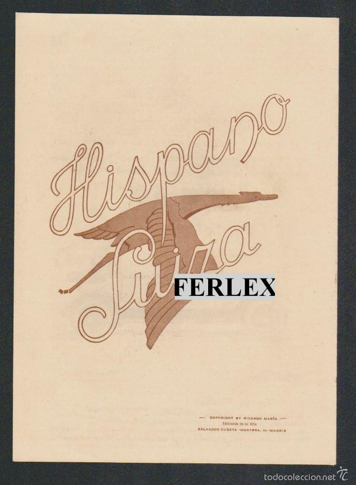 Coches y Motocicletas: Folleto publicitario de la casa Hispano Suiza, repartido en las Exposiciones de Sevilla y Barcelona. - Foto 3 - 58144341