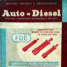 Coches y Motocicletas: REVISTA AUTO-DIESEL Nº 55 - ENERO 1965.. Lote 58184708