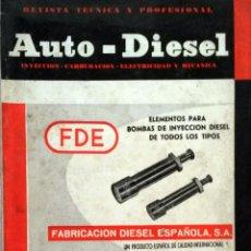 Coches y Motocicletas: REVISTA AUTO-DIESEL Nº 44 - FEBRERO 1964.. Lote 58185001