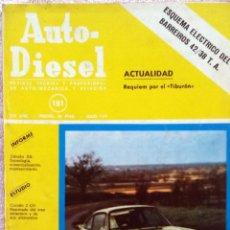 Coches y Motocicletas: REVISTA AUTO-DIESEL Nº 181 - JULIO 1975.. Lote 58185046