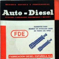 Coches y Motocicletas: REVISTA AUTO-DIESEL Nº 57 - MARZO 1965.. Lote 58185083