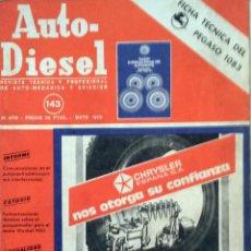 Coches y Motocicletas: REVISTA AUTO-DIESEL Nº 143 - MAYO 1972.. Lote 58185221