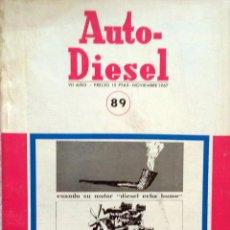 Coches y Motocicletas: REVISTA AUTO-DIESEL Nº 89 - NOVIEMBRE 1967.. Lote 58185290