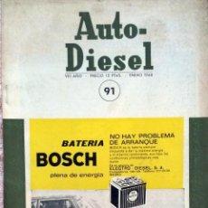 Coches y Motocicletas: REVISTA AUTO-DIESEL Nº 91 - ENERO 1968.. Lote 58186166