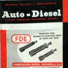 Coches y Motocicletas: REVISTA AUTO-DIESEL Nº 42 - DICIEMBRE 1963.. Lote 58186548