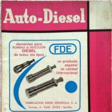 Coches y Motocicletas: REVISTA AUTO-DIESEL Nº 60 - JUNIO 1965.. Lote 58187478