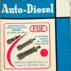 Coches y Motocicletas: REVISTA AUTO-DIESEL Nº 59 - MAYO 1965.. Lote 58187797