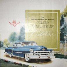Carros e motociclos: CATÁLOGO DEL 50 ANIVERSARIO DE CADILLAC. ORIGINAL DE 1952. TRADUCIDO AL ESPAÑOL.. Lote 58216404