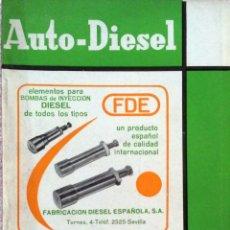 Coches y Motocicletas: REVISTA AUTO-DIESEL Nº 68 - FEBRERO 1966.. Lote 58299033