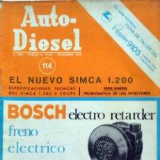 Coches y Motocicletas: REVISTA AUTO-DIESEL Nº 114 - DICIEMBRE 1969.. Lote 58299278