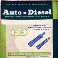 Coches y Motocicletas: REVISTA AUTO-DIESEL Nº 54 - DICIEMBRE 1964.. Lote 58299368