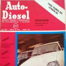 Coches y Motocicletas: REVISTA AUTO-DIESEL Nº 177 - MARZO 1975.. Lote 58299459