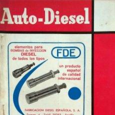 Coches y Motocicletas: REVISTA AUTO-DIESEL Nº 66 - DICIEMBRE 1965.. Lote 58327283