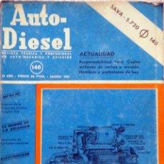 Coches y Motocicletas: REVISTA AUTO-DIESEL Nº 146 - AGOSTO 1972.. Lote 58327848