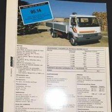 Coches y Motocicletas: FOLLETO CATALOGO PUBLICIDAD ORIGINAL IVECO CHASIS CABINA 95.14 DE 1987. Lote 58354654