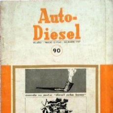 Coches y Motocicletas: REVISTA AUTO-DIESEL Nº 90 - DICIEMBRE 1967.. Lote 58366591