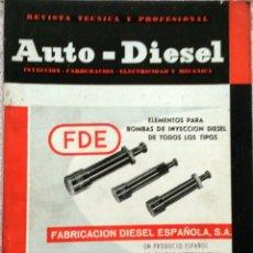Coches y Motocicletas: REVISTA AUTO-DIESEL Nº 36 - JUNIO 1963.. Lote 58367461