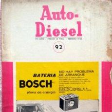 Coches y Motocicletas: REVISTA AUTO-DIESEL Nº 92 - FEBRERO 1968.. Lote 58367602