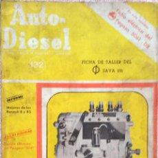 Coches y Motocicletas: REVISTA AUTO-DIESEL Nº 132 - JUNIO 1971.. Lote 58367714