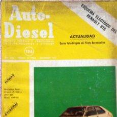 Coches y Motocicletas: REVISTA AUTO-DIESEL Nº 186 - DICIEMBRE 1976.. Lote 58367735