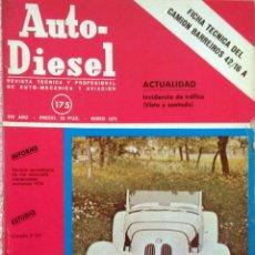 Coches y Motocicletas: REVISTA AUTO-DIESEL Nº 175 - ENERO 1975.. Lote 58367967
