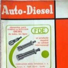 Coches y Motocicletas: REVISTA AUTO-DIESEL Nº 65 - NOVIEMBRE 1965.. Lote 58368143
