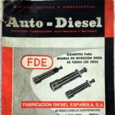 Coches y Motocicletas: REVISTA AUTO-DIESEL Nº 45 - MARZO 1964.. Lote 58368152