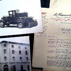 Coches y Motocicletas: HISPANO SUIZA - DOSSIER - 1936 - FOTOGRAFIAS Y DOCUMENTOS. Lote 58402058