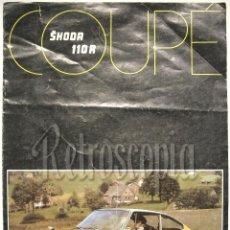 Coches y Motocicletas: CATALOGO PUBLICIDAD SKODA COUPÉ 110 R AÑOS 70 EN CASTELLANO. Lote 58486283