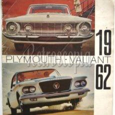 Coches y Motocicletas: CATALOGO PUBLICIDAD CHRYSLER PLYMOUTH Y VALIANT AÑO 1962 EN CASTELLANO. Lote 58487011