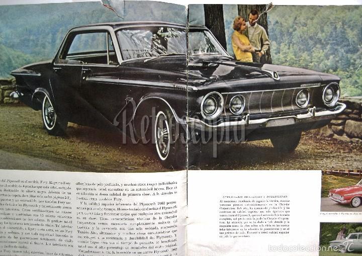 Coches y Motocicletas: CATALOGO PUBLICIDAD CHRYSLER PLYMOUTH Y VALIANT AÑO 1962 EN CASTELLANO - Foto 2 - 58487011