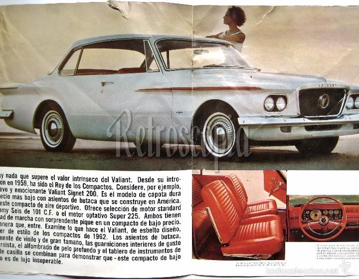 Coches y Motocicletas: CATALOGO PUBLICIDAD CHRYSLER PLYMOUTH Y VALIANT AÑO 1962 EN CASTELLANO - Foto 3 - 58487011