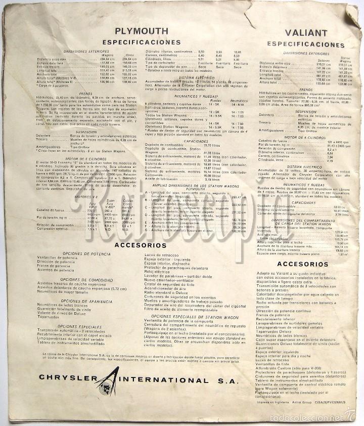 Coches y Motocicletas: CATALOGO PUBLICIDAD CHRYSLER PLYMOUTH Y VALIANT AÑO 1962 EN CASTELLANO - Foto 4 - 58487011