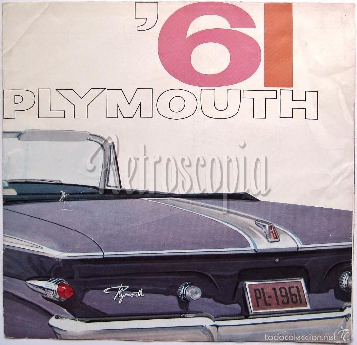 CATALOGO DESPLEGABLE PUBLICIDAD CHRYSLER PLYMOUTH AÑO 1961 EN CASTELLANO (Coches y Motocicletas Antiguas y Clásicas - Catálogos, Publicidad y Libros de mecánica)