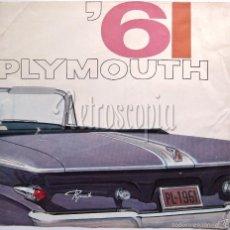 Coches y Motocicletas: CATALOGO DESPLEGABLE PUBLICIDAD CHRYSLER PLYMOUTH AÑO 1961 EN CASTELLANO. Lote 58487038
