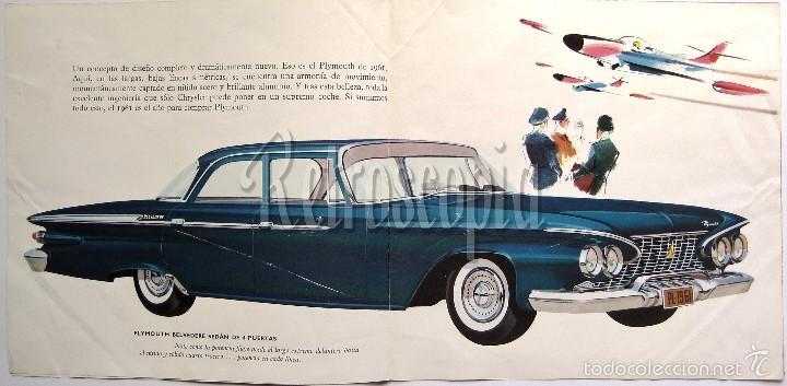 Coches y Motocicletas: CATALOGO DESPLEGABLE PUBLICIDAD CHRYSLER PLYMOUTH AÑO 1961 EN CASTELLANO - Foto 2 - 58487038