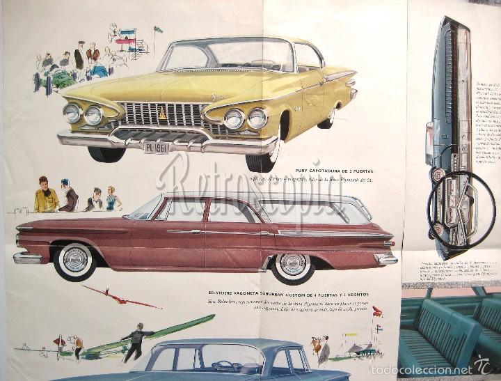 Coches y Motocicletas: CATALOGO DESPLEGABLE PUBLICIDAD CHRYSLER PLYMOUTH AÑO 1961 EN CASTELLANO - Foto 3 - 58487038
