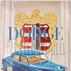 Coches y Motocicletas: CATALOGO DESPLEGABLE AUTOMOVILES DODGE CORONET WAYFARER AÑOS 40 - 50 EN CASTELLANO. Lote 58487988
