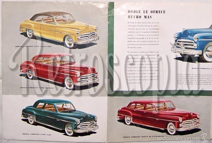 Coches y Motocicletas: CATALOGO DESPLEGABLE AUTOMOVILES DODGE CORONET WAYFARER AÑOS 40 - 50 EN CASTELLANO - Foto 3 - 58487988
