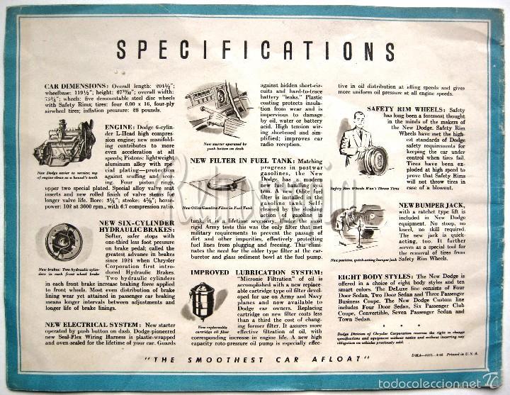Coches y Motocicletas: CATALOGO PUBLICIDAD AUTOMOVILES DODGE VARIOS MODELOS CUSTOM 40 - 50 EN INGLÉS - Foto 4 - 58488015