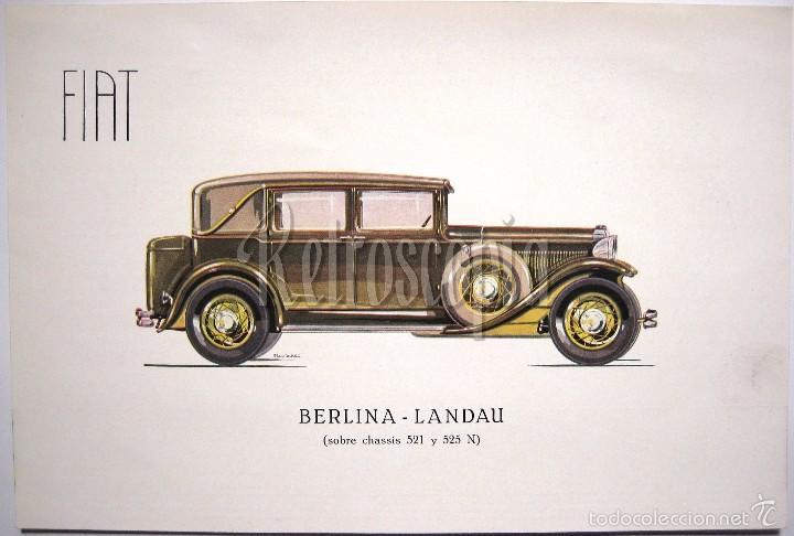 CATALOGO PUBLICIDAD FIAT BERLINA LANDAU 521 Y 525 N AÑOS 40 EN CASTELLANO (Coches y Motocicletas Antiguas y Clásicas - Catálogos, Publicidad y Libros de mecánica)