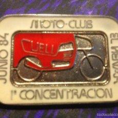 Coches y Motocicletas: CHAPA 1ª CONCENTRACIÓN DE MOTOS, MOTOCLUB EL HENAR DE CUELLAR, 1984. Lote 58496136
