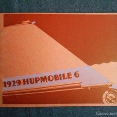 Coches y Motocicletas: HUPMOBILE 6 1929 IMPECABLE CATÁLOGO FOLLETO PUBLICIDAD INCLUYE LISTA DE PRECIOS EN ARGENTINA. Lote 58504467