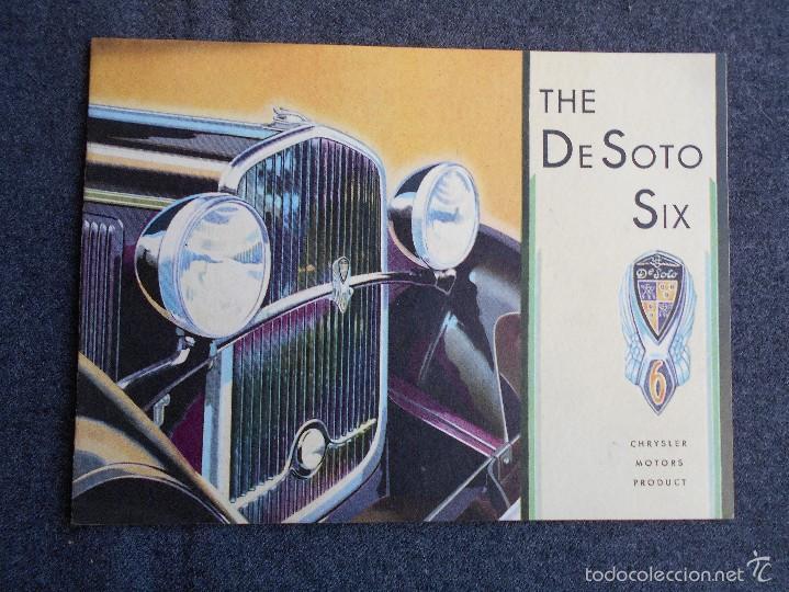 THE DE SOTO SIX CATÁLOGO IMPECABLE ESTADO TODOS LOS MODELOS CHRYSLER MOTORS PRODUCT (Coches y Motocicletas Antiguas y Clásicas - Catálogos, Publicidad y Libros de mecánica)