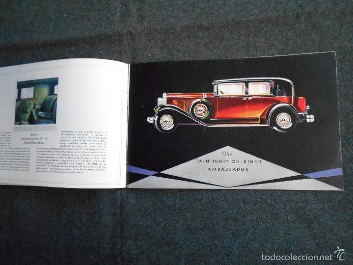 NASH 400 AÑO 1930 LUJOSO CATÁLOGO DE 20 PÁGINAS CON TODOS LOS MODELOS. EXCELENTE ESTADO. (Coches y Motocicletas Antiguas y Clásicas - Catálogos, Publicidad y Libros de mecánica)