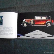 Coches y Motocicletas: NASH 400 AÑO 1930 LUJOSO CATÁLOGO DE 20 PÁGINAS CON TODOS LOS MODELOS. EXCELENTE ESTADO.. Lote 58504993