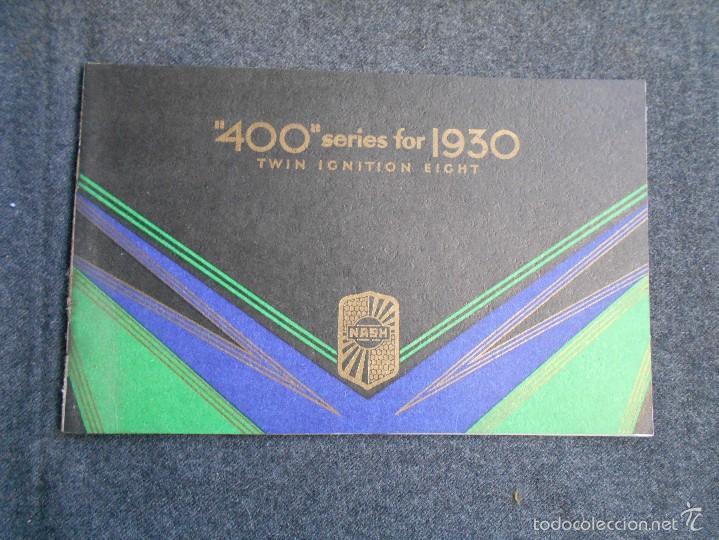 Coches y Motocicletas: Nash 400 año 1930 Lujoso Catálogo de 20 páginas con todos los modelos. Excelente estado. - Foto 2 - 58504993